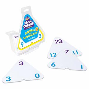 three:corner:flash:cards:addition:subtraction:trend:enterprises