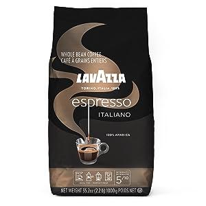 lavazza, espresso, italiano, coffee, whole, bean