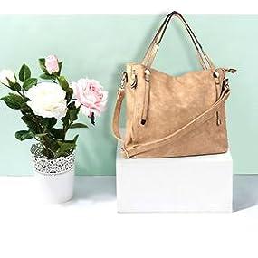 550d1a2c0a84 Amazon.com  WISHESGEM Women Handbags Tote Shoulder Bags Satchel ...