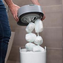 hink återanvändbara avfallshantering badkar foder patroner stora påsar