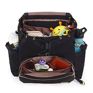 b49abf62 Skip Hop Chelsea Downtown Chic Diaper Backpack, Black