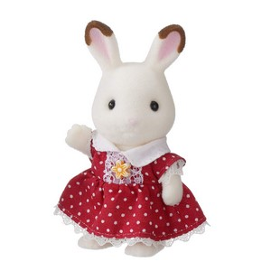 シルバニアファミリー 人形・家具セット ショコラウサギの女の子・家具セット DF-10