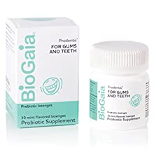 Progentis for Gums and Teeth; 30 mint flavored probiotic lozenges