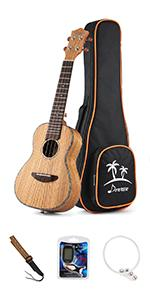 zebrawood concert ukulele