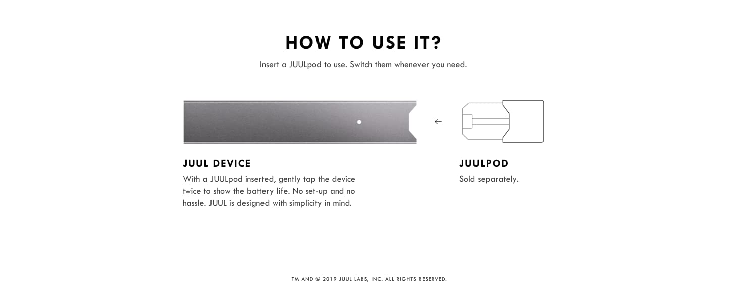 JUUL Device Kit, Slate Grey, E-cigarette (No JUUL Pods included)