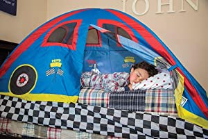 Pacific Play Tents Rad Racer Bed Tent & Amazon.com: Pacific Play Tents Kids Rad Racer Bed Tent Playhouse ...
