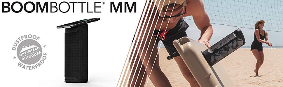 scosche boombottle mm magicmount dustproof and waterproof bluetooth 4.2 wireless magnetic speaker