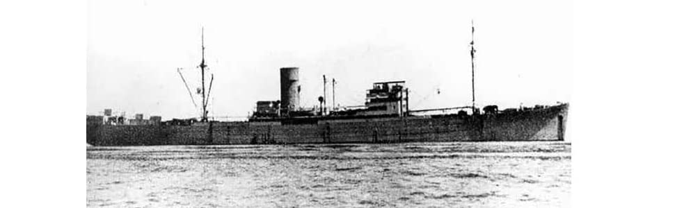 The German auxiliary cruiser Pinguin, officially 'Ship 33' and formerly the Hansa Line