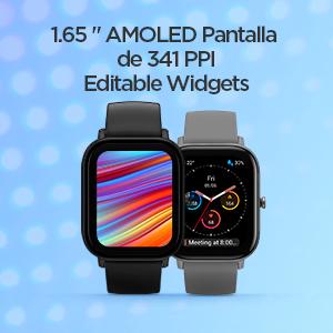 Pantalla AMOLED y widgets editables
