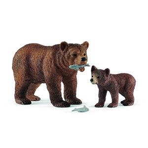 grizzly bear, grizzly bear figurine, bear figurine, schleich, schleich figurines, schleich bear toy