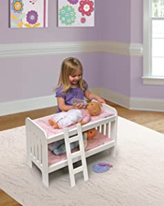 Amazon Com Badger Basket Doll Bunk Beds With Ladder Fits American