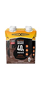 body Fortress Ready to drink Chocolate high protein shake with 40g of Protein