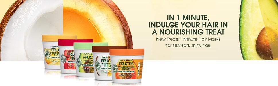 Amazon Com Garnier Fructis Strengthening Treat 1 Minute Hair Mask