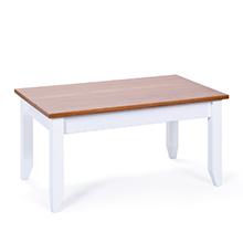 Salon, bois massif, bois, blanc, table basse, pin, maison de campagne.