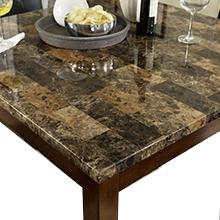 Amazon.com: Dorel Living Andover Faux Marble Counter Height Dining ...