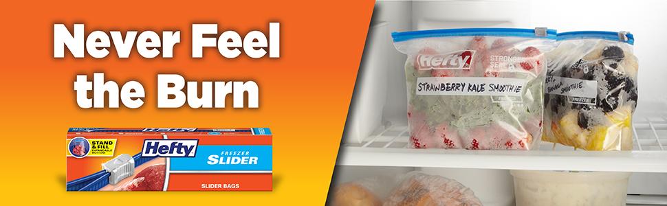 Hefty Slider Freezer Bags Quart Gallon