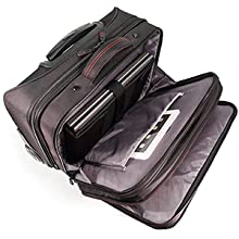 Fully-adjustable laptop compartment provides