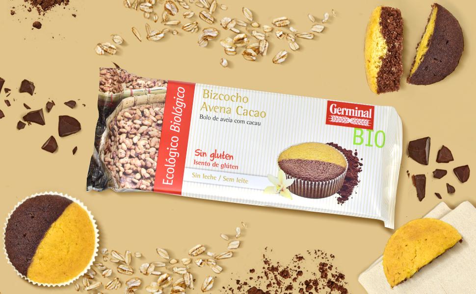 Germinal Bizcocho De Avena Cacao Sin Gluten Bio - Germinal - 180G ...