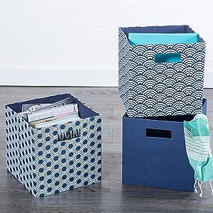 multi purpose bins baskets with handles 13 inch 11 inch magazine holder