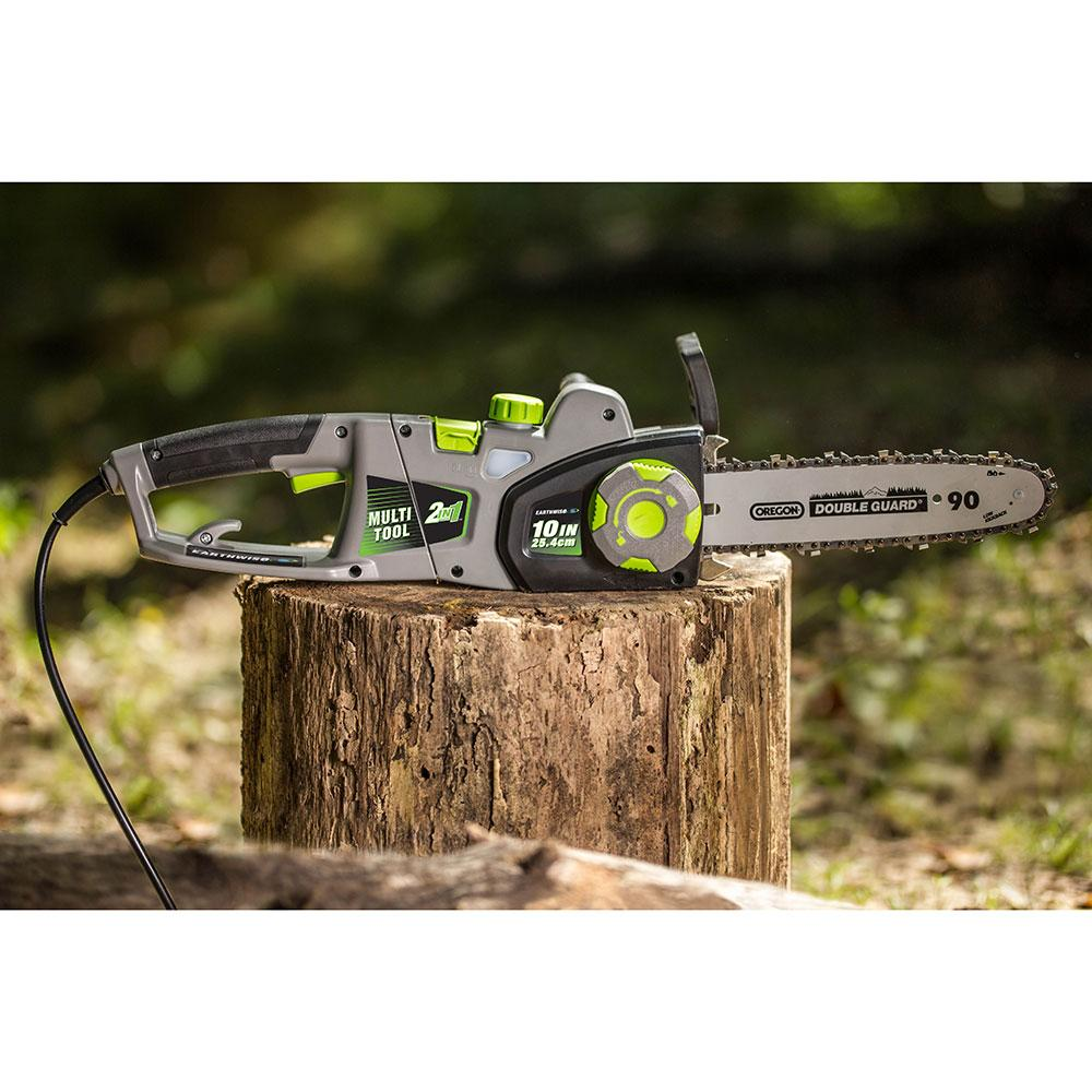Earthwise cvps41008 8 inch 6 amp corded electric 2 in 1 earthwise multi tool greentooth