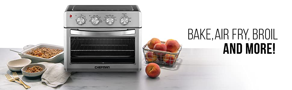 Amazon.com: Chefman Air Fryer Toaster Oven, 6 Slice, 26 QT