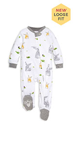 Piece Pajama Set w//gift NEW  Burts Bees ORGANIC 12 M Nordic//Fair Isle  Gray Two