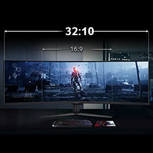 """Acer EI431CR 43"""" 1800R Curved Gaming Monitor Radeon FreeSync DisplayHDR 400 DCI-P3 3840 1200"""