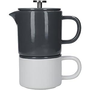 Stacking mug and coffee maker