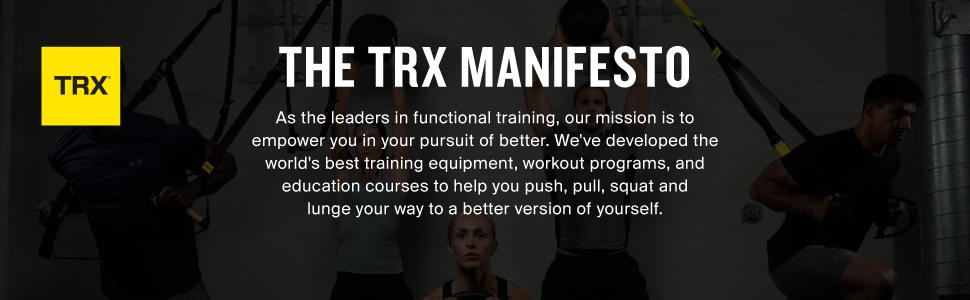 The TRX Manifesto