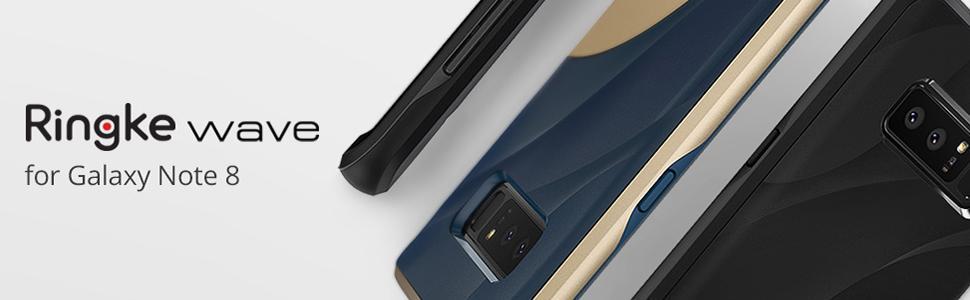 Huse subtiri si bune pentru Samsung Galaxy Note 8. Huse Ringke Wave