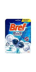 bref blue activ eau bleu boules toilettes wc, nettoyant wc