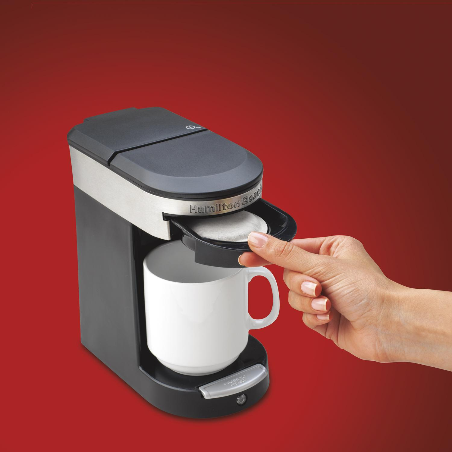 Coffee Maker K Cup And Pot Amazoncom Hamilton Beach 49970 Personal Cup One Cup Pod Brewer