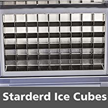 Happybuy Commercial Ice Maker 132LBs//24H w// 29LBs Storage Capacity Plate Ice Maker Machine Stainless Steel Ice Machine Perfect for Restaurants Bar Cafe w//Scoop and Connection Hoses