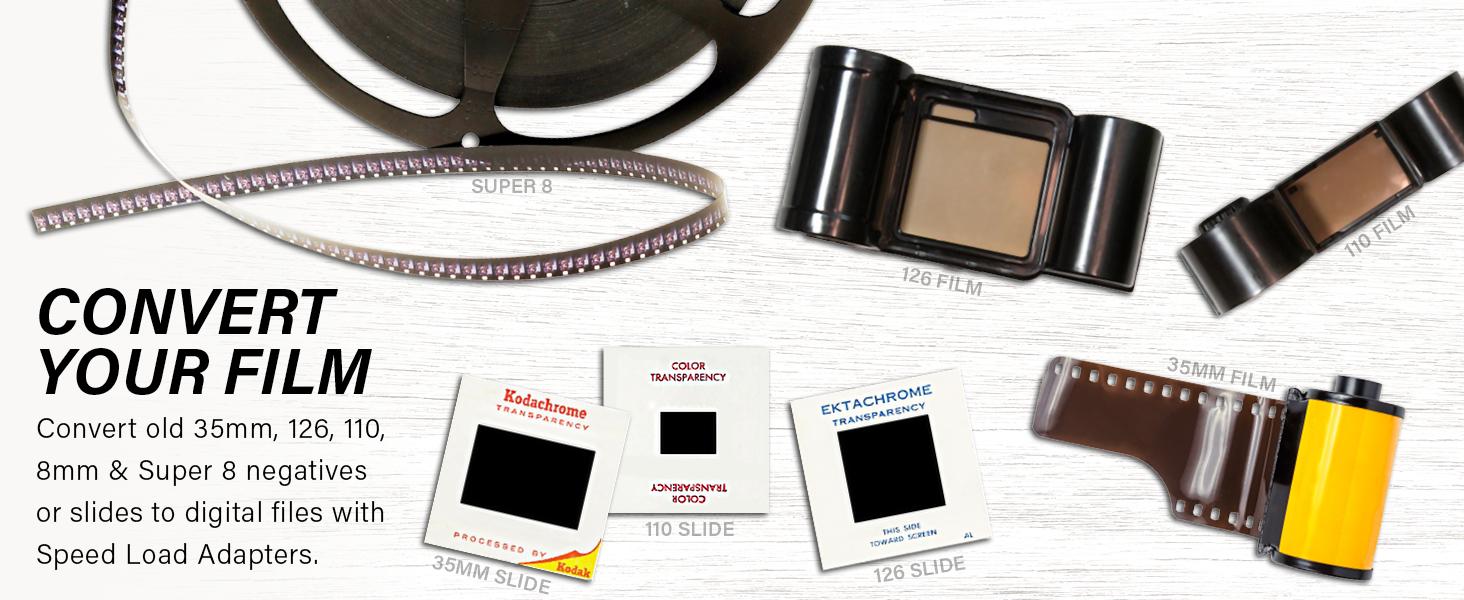 film negative convert scan 35mm super8 120 film 110film instant jpeg sd