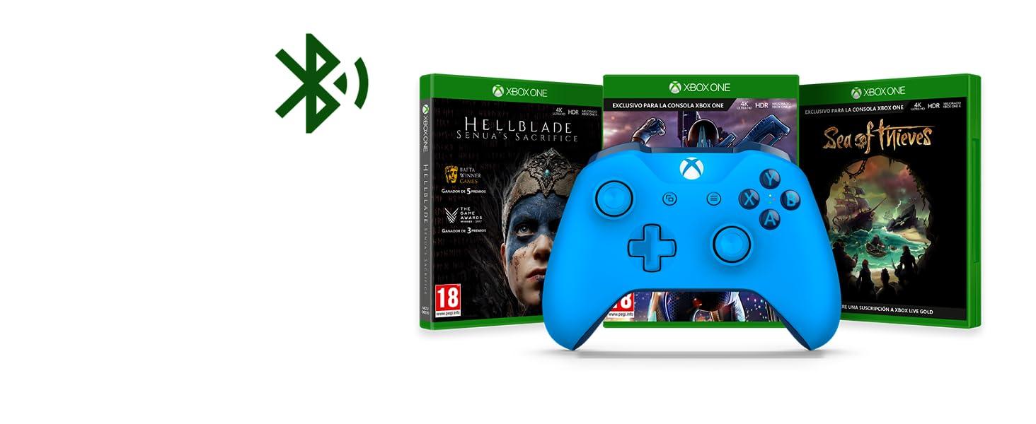 Microsoft Mando Inalámbrico, Color Azul (Xbox One