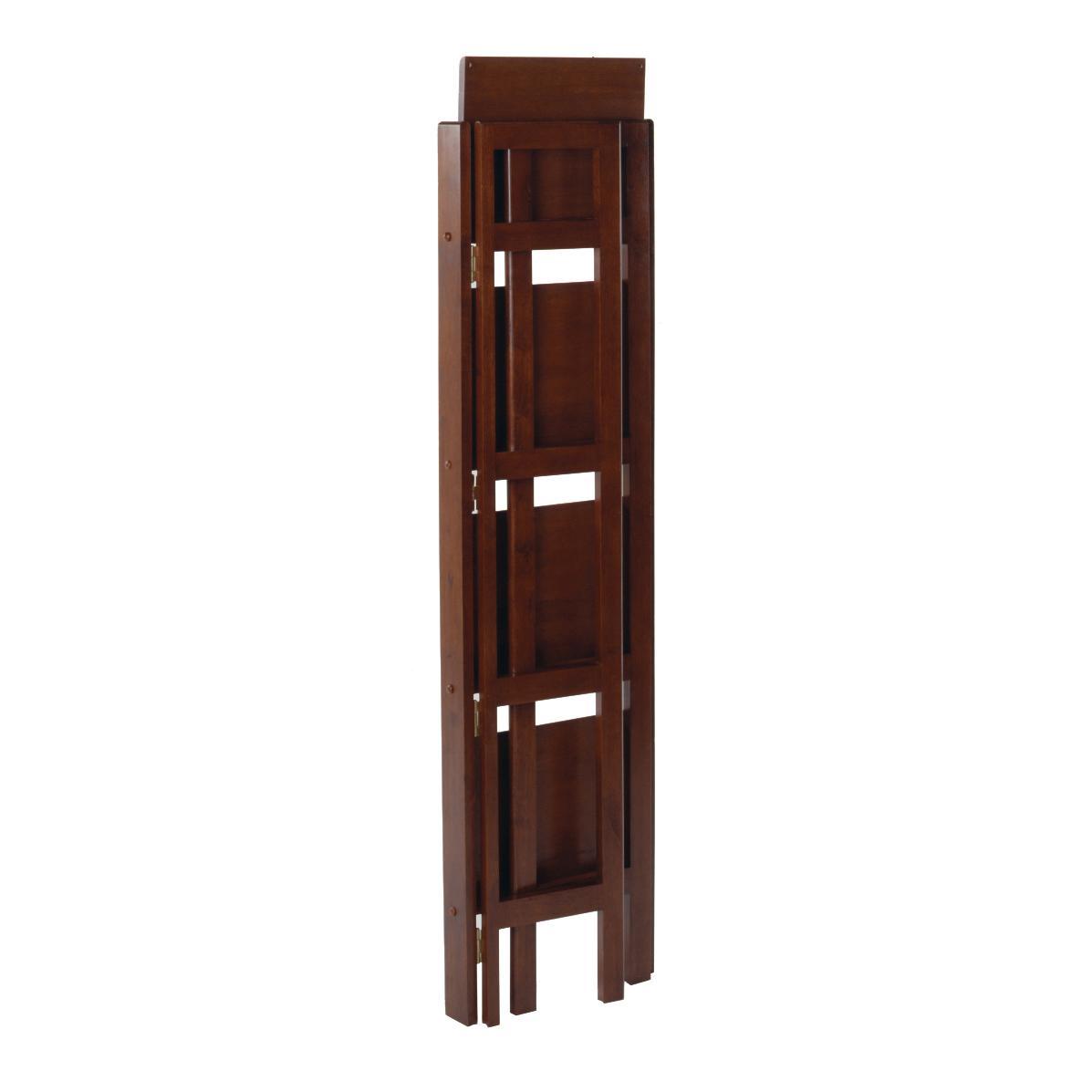 Winsome Wood Folding 4 Tier Shelf Antique