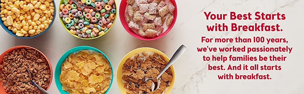 Your best starts with breakfast and Kelloggs offers a wide variety of cereals to suit your tastes