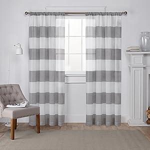 Amazon.com: Exclusive Home Curtains Loha Linen Window Curtain Panel ...