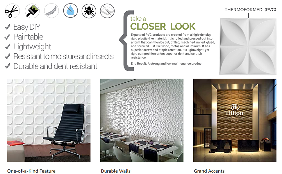 easy install wall panels for decorative accent