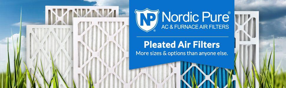 16 x 16 x 1 Nordic Pure 16x16x1 Eco-Friendly AC Furnace Air Filters 3 Piece Pure Green