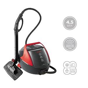Polti Vaporetto PRO85_Flexi Limpiador a Vapor, 1100 W, 1.3 litros, Aluminio, Negro y Rojo: Amazon.es: Hogar