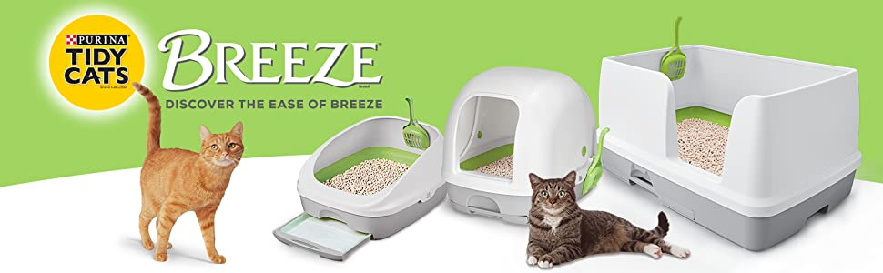 Purina Tidy Cats Breeze. Discover the ease of Breeze.