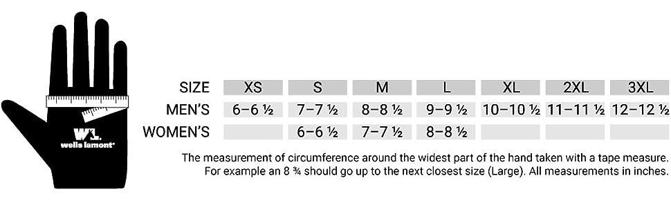 wl size chart
