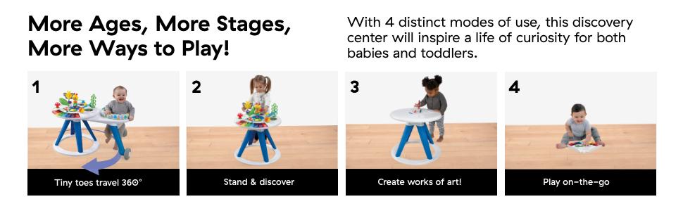 Amazon.com : Baby Einstein Around We Grow 4-in-1 Walk Around ...