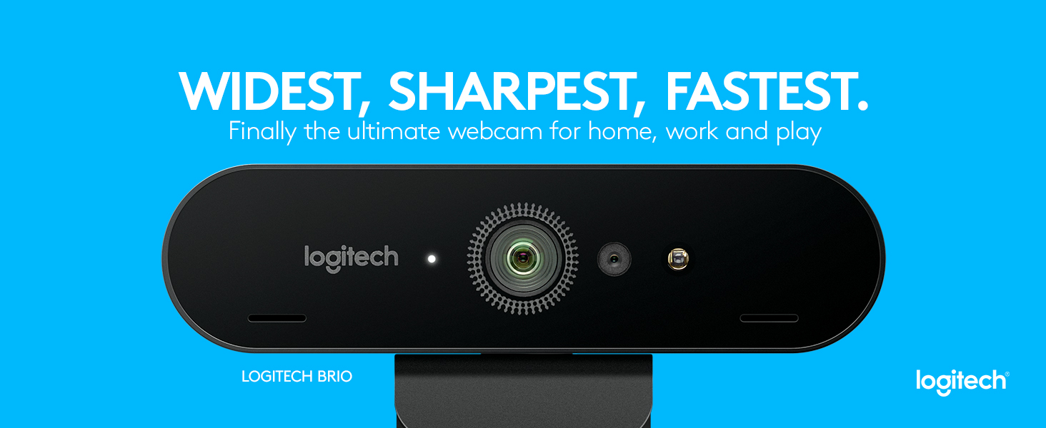857c6371658 Amazon.com: Logitech BRIO – Ultra HD Webcam for Video Conferencing ...