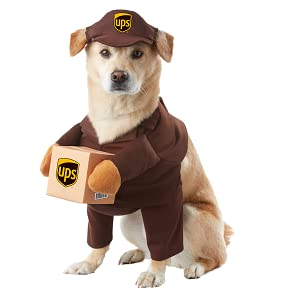 UPS Dog, UPS Pal, Dog Costume, Pet Costume, Puppy Costume, Mail Man Dog, Delivery Dog, Deadly Doll