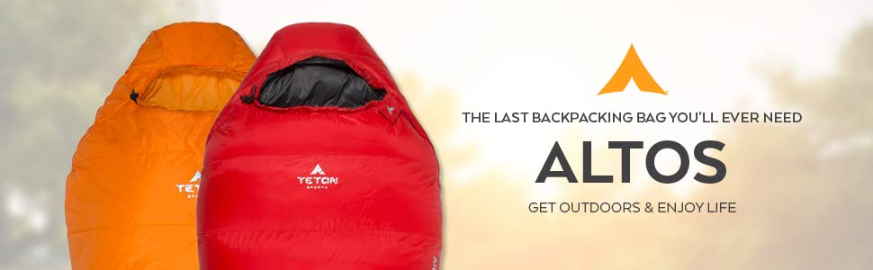 The ALTOS Sleeping Bag is the last backpacking sleeping bag you'll ever need.