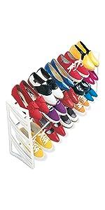 Lynk 50 Pair Shoe Rack 30 24 Over Door 20 15 Convertible