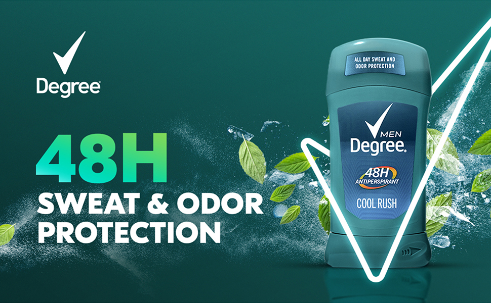 Degree Men Cool RUsh Product with texture