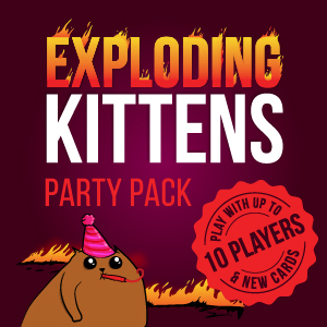 exploding kittens, party pack, more players